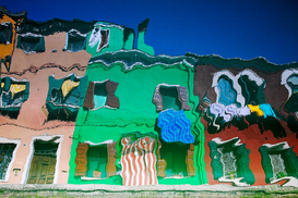 Foto: Kleuren & structuren - Reflections of Burano housing, Italy