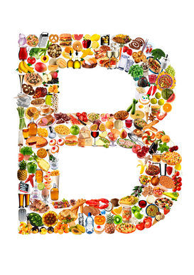 Letter Pictures Wall Art as Canvas, Acrylic or Metal Print food in the shape of B