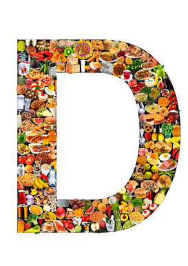 Letter Pictures Wall Art as Canvas, Acrylic or Metal Print food in the shape of D