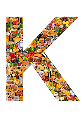 Letter Pictures Wall Art as Canvas, Acrylic or Metal Print food in the shape of K
