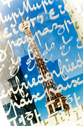 Illustration & Abstract pictures Wall Art as Canvas, Acrylic or Metal Print Eiffelturm, Paris, Frankreich - Eiffel tower, Paris, France