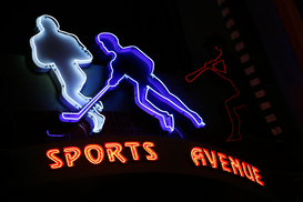 Neon sign pictures Wall Art as Canvas, Acrylic or Metal Print Neonreklame in Westfield Horton Plaza