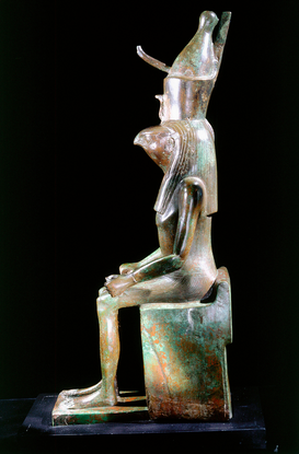 Ägypten & Naher Osten Bilder z.B als Leinwandbild oder Wandbild hinter Acrylglas: Figure of the god Horus in his falcon-he