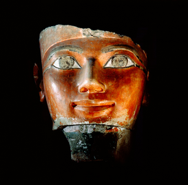 Egypt & Middle East pictures Wall Art as Canvas, Acrylic or Metal Print Head of Hatshepsut. Fragment of a statue