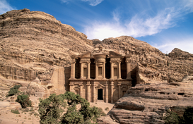 Egypt & Middle East pictures Wall Art as Canvas, Acrylic or Metal Print Jordanien : Petra -  Al Deir