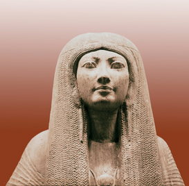Egypt & Middle East pictures Wall Art as Canvas, Acrylic or Metal Print Statue of Merit, wife of Maya a minister