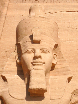 Egypt & Middle East pictures Wall Art as Canvas, Acrylic or Metal Print The colossal statue of Ramses II at Abu