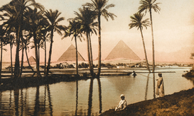 Egypt & Middle East pictures Wall Art as Canvas, Acrylic or Metal Print The Pyramids at Giza
