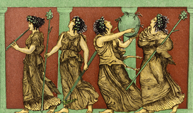 Ancient Greece pictures Wall Art as Canvas, Acrylic or Metal Print 4 FEMALE GREEK DANCERS