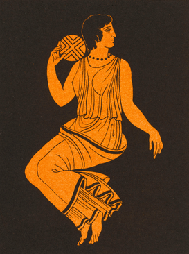 Ancient Greece pictures Wall Art as Canvas, Acrylic or Metal Print GREECE/PLAYING WITH BALL