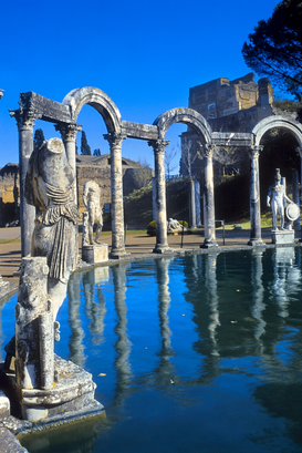 Roman Empire pictures Wall Art as Canvas, Acrylic or Metal Print THE CANOPO AT VILLA ADRIANA RUINS TIVOLI ITALY