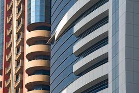 Foto: Moderne Architectuur - Detail of several diverse skyscrapers