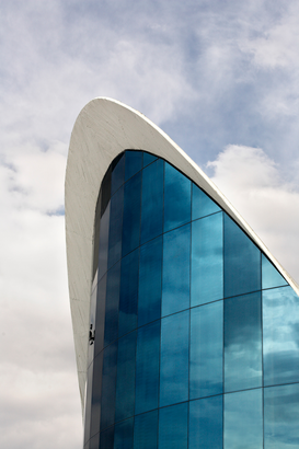 Foto: Moderne Architectuur - L'Oceanografic, Valencia, 2003. External view of side windows.
