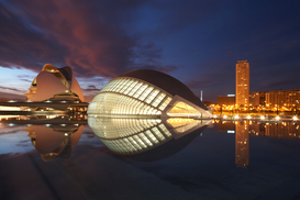 Foto: Moderne Architectuur - The City of Arts and Sciences, Valencia, 2006.