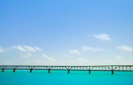 Pictures of bridges & roads  Wall Art as Canvas, Acrylic or Metal Print Bridge in the Florida Keys, Florida, USA
