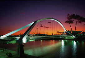 Pictures of bridges & roads  Wall Art as Canvas, Acrylic or Metal Print Puente de la Barqueta