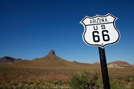 Architektur Bilder z.B als Leinwandbild oder Wandbild hinter Acrylglas: Route 66 - The Mother Road