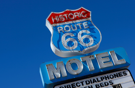 Pictures of bridges & roads  Wall Art as Canvas, Acrylic or Metal Print Route 66 - The Mother Road