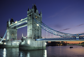 Pictures of bridges & roads  Wall Art as Canvas, Acrylic or Metal Print Tower Bridge