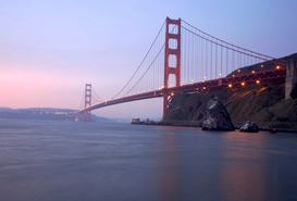 Architectuur Foto's bijv. als canvasfoto of wandfoto achter acrylglas: USA Kalifornien San Francisco Golden Gate Bridge