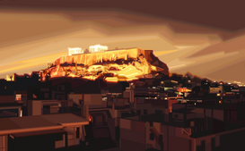Pictures of famous buildings Wall Art as Canvas, Acrylic or Metal Print AKROPOLIS