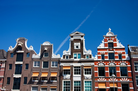 Pictures of famous buildings Wall Art as Canvas, Acrylic or Metal Print Amsterdam