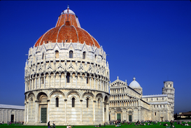 Pictures of famous buildings Wall Art as Canvas, Acrylic or Metal Print CAMPO DEI MIRACOLI AT PISA TUSCANY ITALY