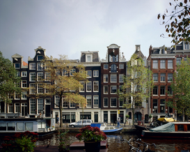 Architecture Photography Wall Art as Canvas, Acrylic or Metal Print Canal houses in Amsterdam