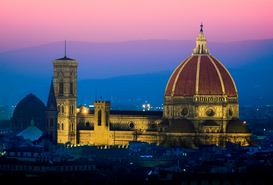 Pictures of famous buildings Wall Art as Canvas, Acrylic or Metal Print FLORENCE CATHEDRAL TUSCANY ITALY