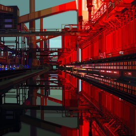Pictures of famous buildings Wall Art as Canvas, Acrylic or Metal Print KOKEREI ZOLLVEREIN