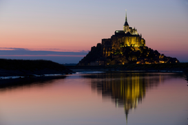 Pictures of famous buildings Wall Art as Canvas, Acrylic or Metal Print Mont-St.-Michel, France