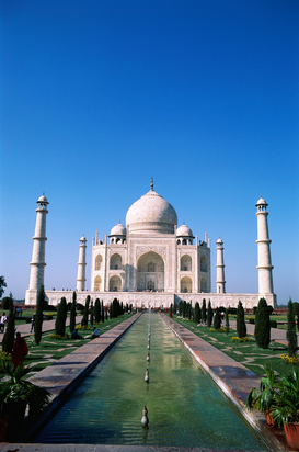 Architectuur Foto's bijv. als canvasfoto of wandfoto achter acrylglas: NMK-60621 : Taj mahal seventh wonder of world ; Agra ; Uttar Pradesh ; India
