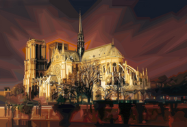 Pictures of famous buildings Wall Art as Canvas, Acrylic or Metal Print NOTRE DAME