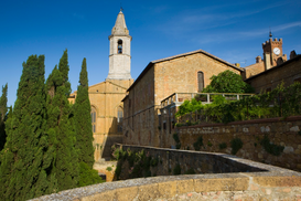 Pictures of famous buildings Wall Art as Canvas, Acrylic or Metal Print Pienza, Italy