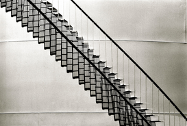 Indoor & Stairway pictures Wall Art as Canvas, Acrylic or Metal Print Staircase with shadow, Montreal, Quebec, Canada.
