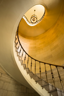 Indoor & Stairway pictures Wall Art as Canvas, Acrylic or Metal Print Winnipeg, Manitoba, Canada; winding staircase