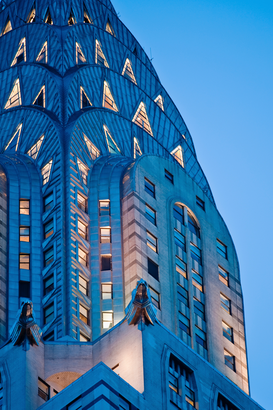 Architectuur Foto's bijv. als canvasfoto of wandfoto achter acrylglas: Chrysler Building detail, New York City, New York, USA