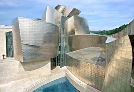 Season pictures Wall Art as Canvas, Acrylic or Metal Print Guggenheim-Museum in Bilbao