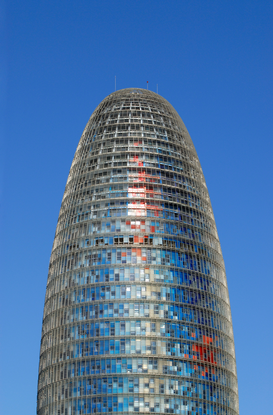Architecture Photography Wall Art as Canvas, Acrylic or Metal Print Hochhaus Torre Agbar / Barcelona
