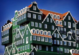 Modern architecture pictures Wall Art as Canvas, Acrylic or Metal Print Neues Design-Hotel in Amsterdam