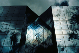 Modern architecture pictures Wall Art as Canvas, Acrylic or Metal Print Office building facade