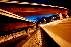 Architecture Photography Wall Art as Canvas, Acrylic or Metal Print Overpass and underpass