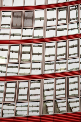 New Pictures Wall Art as Canvas, Acrylic or Metal Print Red and gray windows