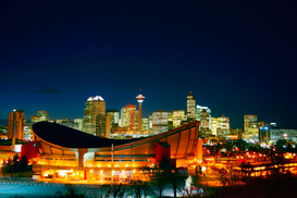 Architecture Photography Wall Art as Canvas, Acrylic or Metal Print Saddledome, Calgary, Alberta, Canada