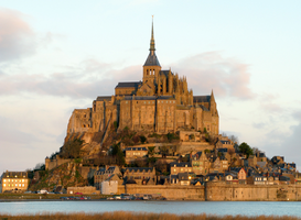 Castle pictures Wall Art as Canvas, Acrylic or Metal Print Frankreich - Mont Saint-Michel