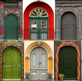 Pictures of doors & windows  Wall Art as Canvas, Acrylic or Metal Print Altmärkische Türen