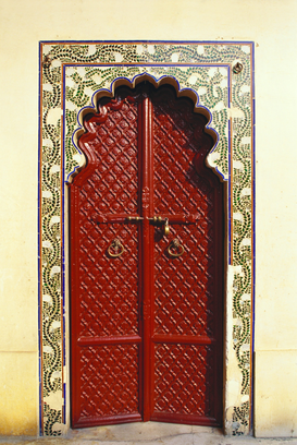 Pictures of doors & windows  Wall Art as Canvas, Acrylic or Metal Print City palace, Udaipur, Rajasthan