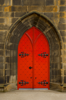 Pictures of doors & windows  Wall Art as Canvas, Acrylic or Metal Print Red castle door
