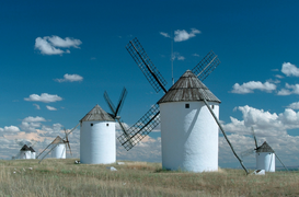 Architecture Photography Wall Art as Canvas, Acrylic or Metal Print Don Quichote windmills / Don Quichote Windmuehlen