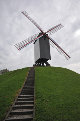 Windmill pictures Wall Art as Canvas, Acrylic or Metal Print Windmühle im belgischen Brügge